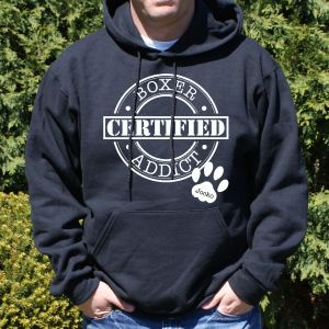 Personalized Certified Dog Addict Hooded Sweatshirt