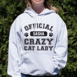 Personalized Crazy Cat Lady Hooded Sweatshirt