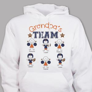 Personalized Football Team Hooded Sweatshirt