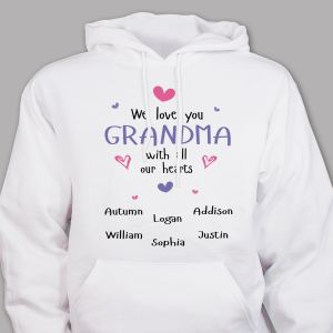 Personalized Grandma Hooded Sweatshirt