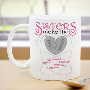 Personalized Sisters Make The Best Friends Mug 262060X