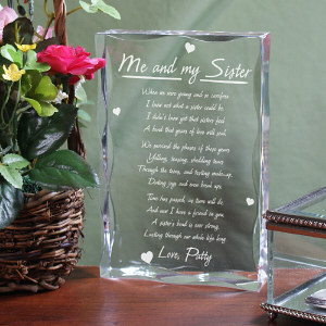 Personalized Sister Keepsake Block