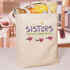 Personalized Sisters Canvas Tote Bag