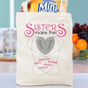 Personalized Sisters Make The Best Friends Tote Bag