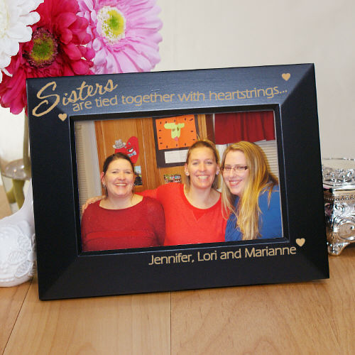 Engraved Sister Picture Frame | Personalized Sister GIfts