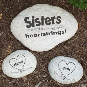 Engraved Sisters Garden Stone L688514X