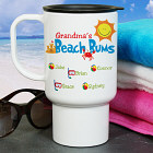 Personalized Beach Bums Travel Mug T28800