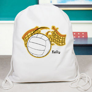 Personalized Volleyball drawstring Sports Bag