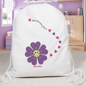 Personalized Flower Sports Bag