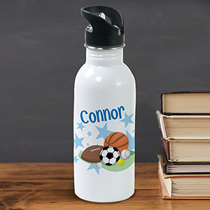 Personalized Sports Fan Water Bottle U362420