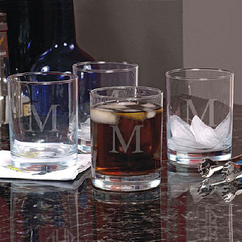 Engraved Drinking Glasses Set | Father's Day Beer Glasses