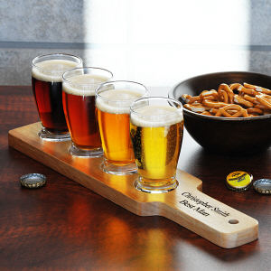 Engraved Beer Flight Sampler