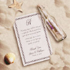 Personalized Message In A Bottle Wedding Favor