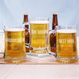 Engraved Groomsmen Glass Mug