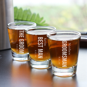 Engraved Wedding Party Shot Glass