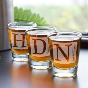 Engraved Shot Glass | Custom Groomsmen Shot Glasses