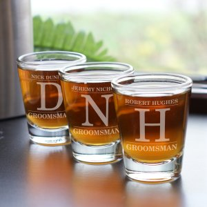 Engraved Groomsmen Shot Glass | Custom Groomsmen Shot Glasses