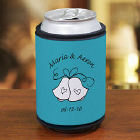 Personalized Wedding Bells Can Wrap Koozie
