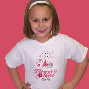 Flower Girl Personalized Youth T-shirt