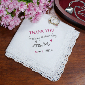 Personalized Mother of the Groom Handkerchief