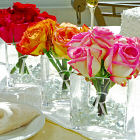 Engraved Glass Vase Wedding Centerpiece D3801-3