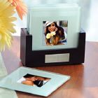 Glass Picture Coaster and Personalized Holder D3908