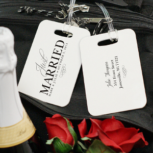 Just Married Bag Tag