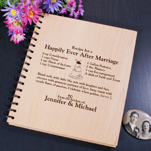 Engraved Happily Ever After Recipe Card Holder