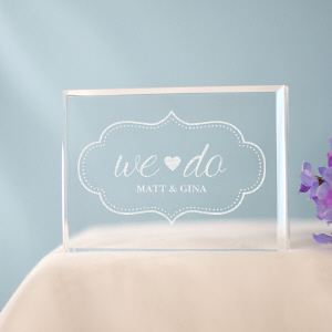 Engraved We Do Cake Topper