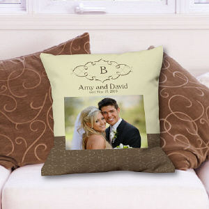 Wedding Day Personalized Photo Throw Pillow