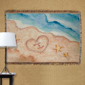 Personalized Shores Of Love Tapestry Throw Blanket