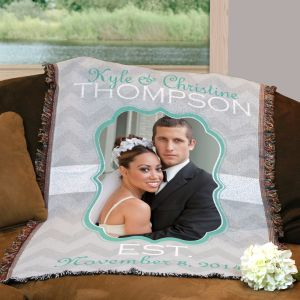 Personalized Wedding Photo Throw Blanket