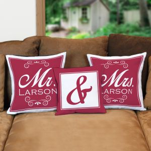 Personalized Wedding Throw Pillow Set