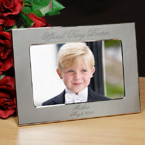Official Ring Bearer Personalized Silver Picture Frame 8533640