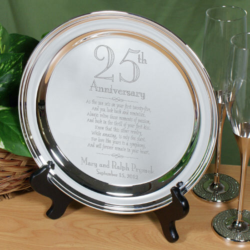 Engraved Wedding Anniversary Silver Plate 8559510