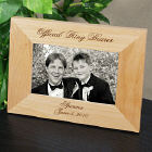 Official Ring Bearer Personalized Wood Picture Frame