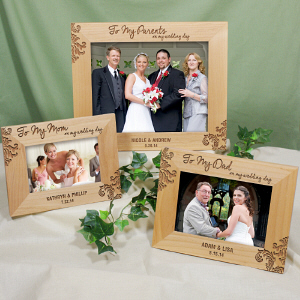 Engraved Parents Wedding Frame