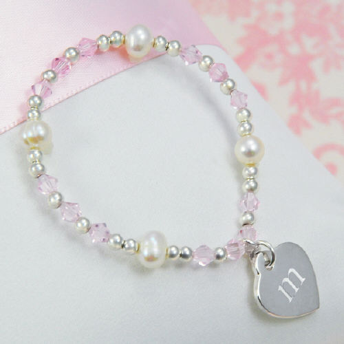 Little Girl's Heart Charm Bracelet DB9251P