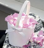 Sweet Bow Flower Girl Basket
