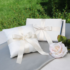 Guest Book, Pen & Ring Pillow Collection