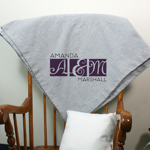 Personalized Wedding Fleece Blanket | Personalized Blankets