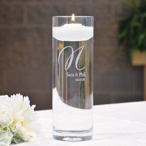 Engraved Floating Unity Candle