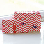Embroidered Chevron Spa Bag & Makeup Roll Brush Set