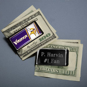 Engraved NFL Emblem Money Clip