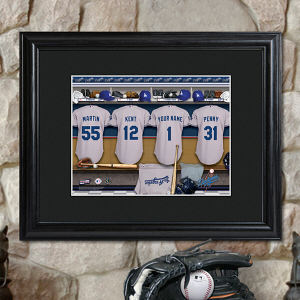 Personalized MLB Clubhouse Matted Frame