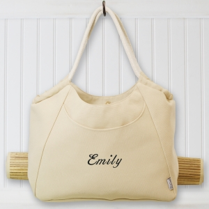 Embroidered  Tote with Mat