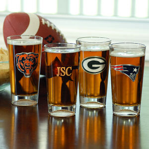 Engraved NFL Pint Glasses