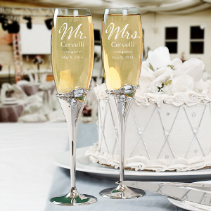 Engraved Wedding Champaign Flutes L273498
