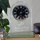Engraved Glass Wedding Clock