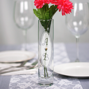 Engraved Center Piece Vase